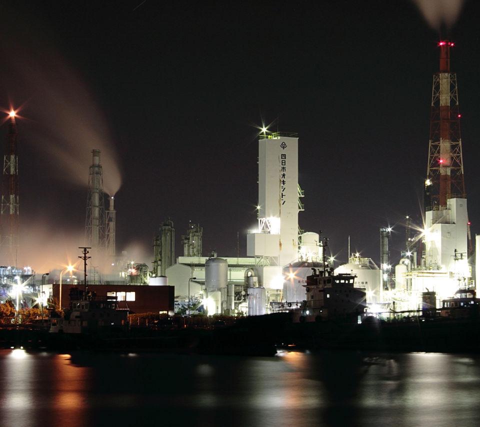 工場夜景のスマホ壁紙のandroid用壁紙素材