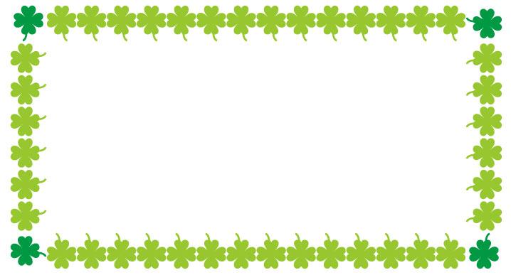 緑の四つ葉のフレーム枠フレーム