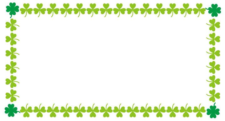 三つ葉と四つ葉のフレームフレーム
