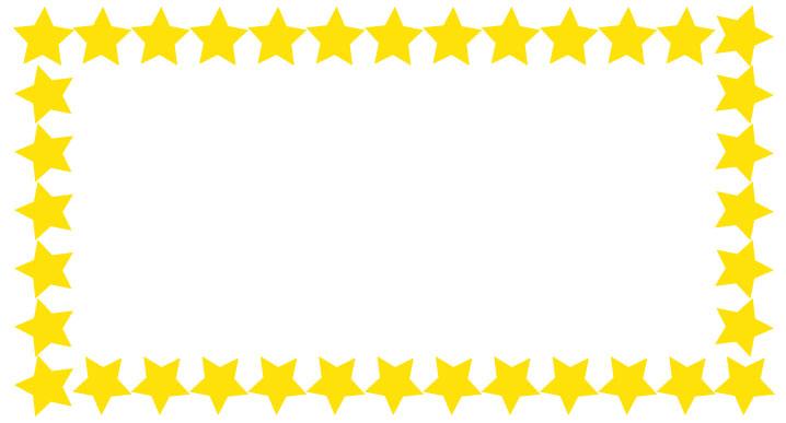 シンプルな黄色の星のフレーム枠フレーム