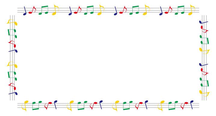 音符のフレーム枠フレーム