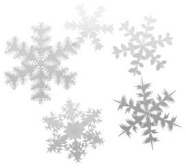 様々な模様の雪の結晶の背景素材