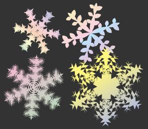 パステルアートの雪の結晶の背景素材