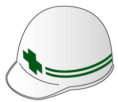安全第一・工事用ヘルメット