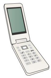 ホワイトの携帯端末