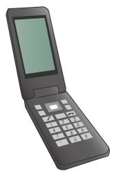 携帯電話のブラック
