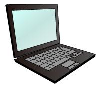 黒色のノートパソコン