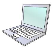 シルバーのノートパソコン