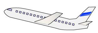 横から見た旅客機
