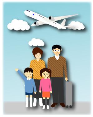 旅客機で行く家族旅行2