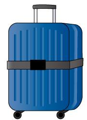 青色の旅行用かばん