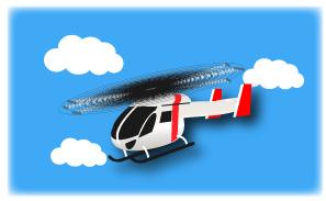 空を飛ぶドクターヘリ