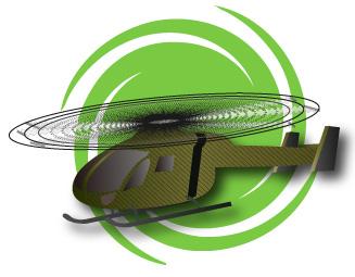 グリーンの飛ぶヘリコプター