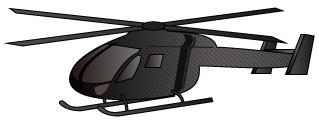 黒色のヘリコプター
