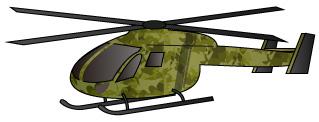 迷彩柄のヘリコプター