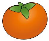 柿(輪郭あり)