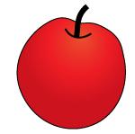 リンゴ(輪郭あり)