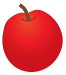 真っ赤な林檎