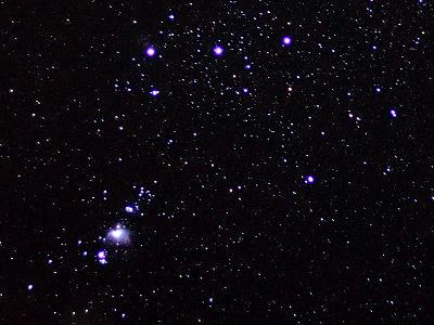 オリオン座の3つ星とM42
