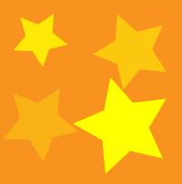 黄色と橙色の星