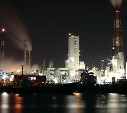 工場夜景のスマホ壁紙