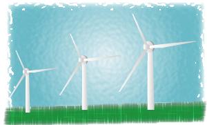 自然エネルギーの風車