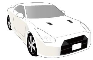 白のスポーツカー