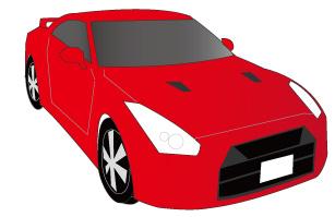 赤のスポーツカー
