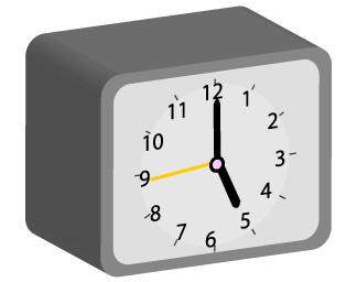 グレーの置時計の3D画像