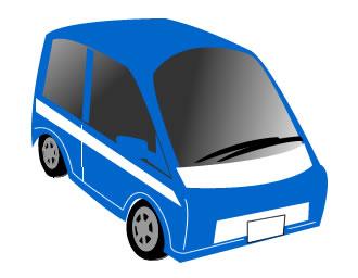 青の電気自動車
