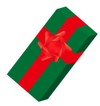 クリスマスカラーのギフト