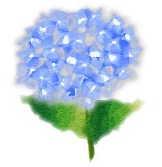 塗り絵風ブルー