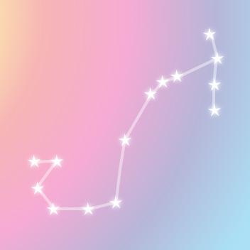 レインボーカラーと星の星図線
