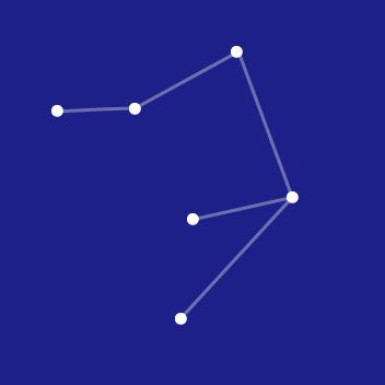 シンプルなライブラの星図線