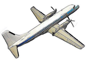 プロペラ付飛行機