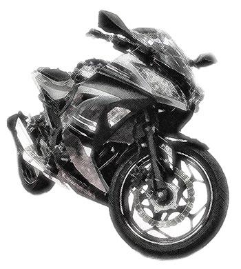 スポーツタイプのバイク