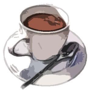 コーヒーとスプーンとお皿NO2
