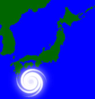 日本列島に接近する台風 日本列島に接近する台風の無料画像 日本列島に接近する台風の無料画像 画像