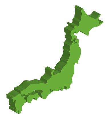 日本地図のフリー素材