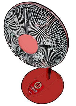 扇風機レッド