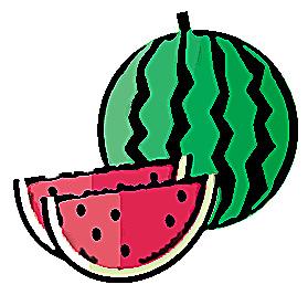 夏の果物スイカ