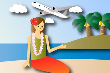 休暇に常夏の島旅行