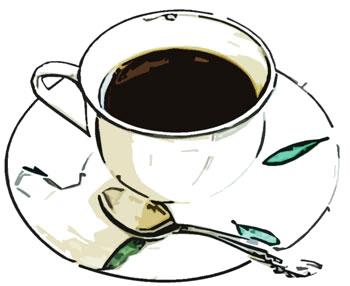 小皿とスプーンとカフェ