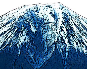 ユキが残る山頂付近