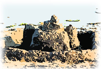 砂で作った城