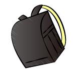 手書き風の黒のランドセル