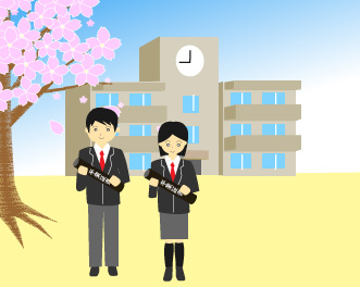 小学校を卒業する生徒