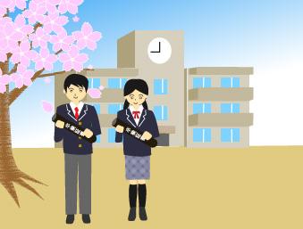 高校を卒業する生徒