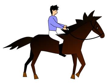 乗馬を楽しむ男性