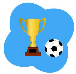 ボールと優勝カップ
